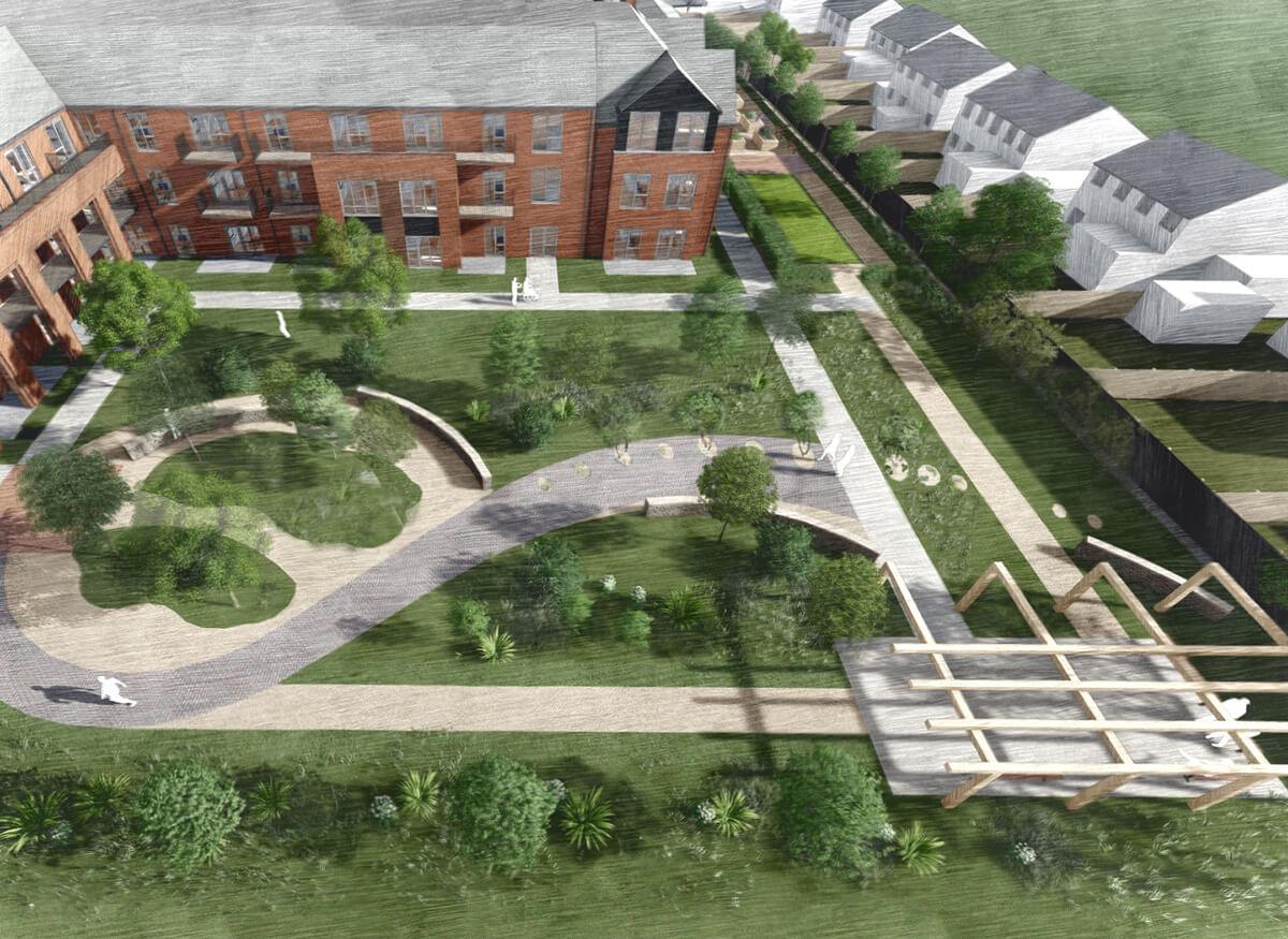 Extra Care Home Garden Design