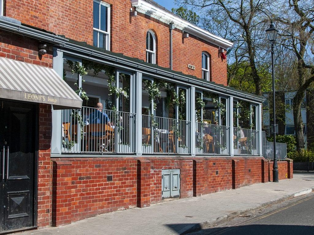 post lockdown cafe life in Leoni's on Shaw Road Heaton Moor