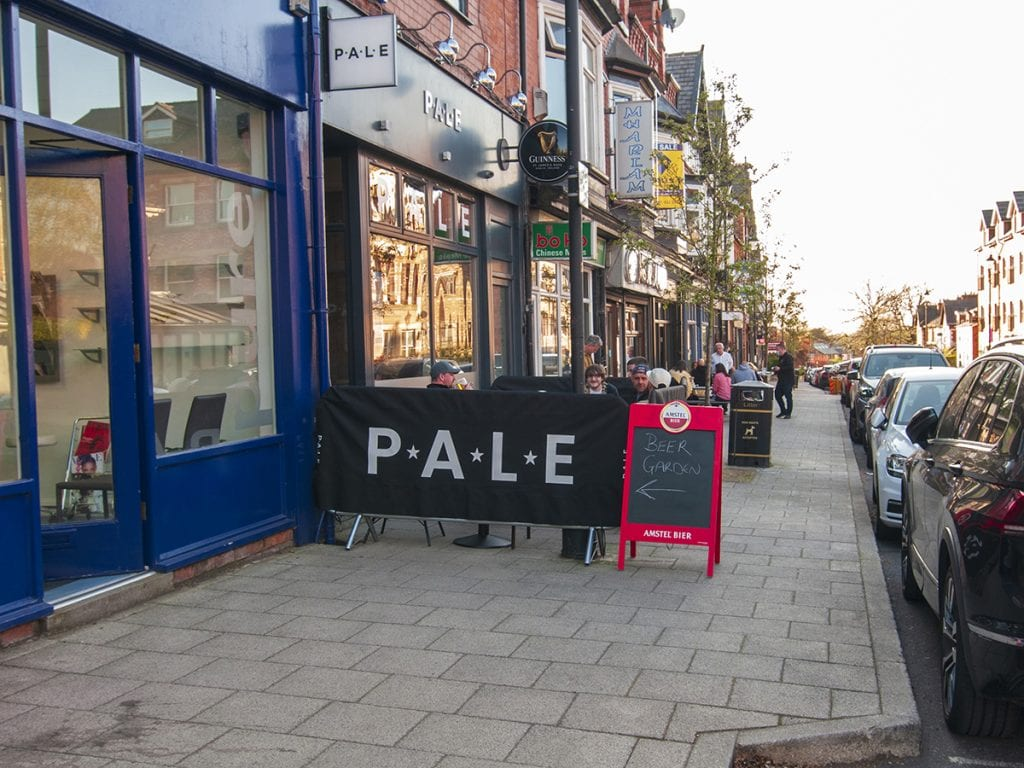 view to Pale outdoor seating street on Shaw Road